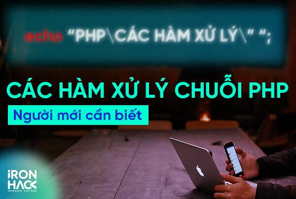 xử lý chuỗi trong php